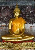 Golden buddha in wat sutat, bangkok Royalty Free Stock Photography