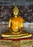 Golden buddha in wat sutat, bangkok Royalty Free Stock Photography