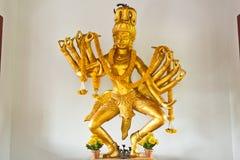 Golden buddha in wat suthat Stock Photo