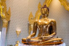 Golden Buddha at Wat Traimit Stock Photos