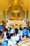 Golden Buddha,Wat Trimit, Bangkok, Thailand. Thai people. Famous Stock Images