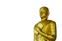 Golden Buddha on White Background with Clipping Path Royalty Free Stock Images