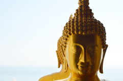 Golden Buddha on the window Stock Image