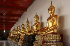 Golden Buddhas Royalty Free Stock Photography
