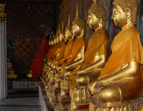 Golden Buddhas Royalty Free Stock Photo