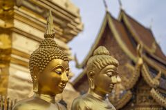 Free Golden Buddhas Head, Doi Sutep Temple Royalty Free Stock Photography - 179038887