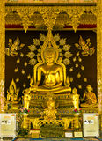 Golden Buddhism image statue Stock Photography