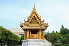Golden Buddhism Pavillion Stock Photo