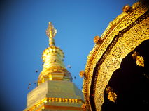 Golden buddhism stupa pagoda north THAILAND Royalty Free Stock Photo