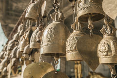 Golden buddhist bells w Royalty Free Stock Photography