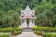 Golden buddhist monk statue in the thailand design pavilion Stock Image