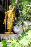 Golden Buddhist Monk Statue. In Thailand Stock Photography