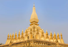 Golden buddhist pagoda of Phra That Luang temple in Vientiane, Laos Stock Photo