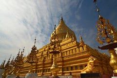 Shwezigon Paya.Bagan Stock Image