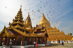 Shwezigon Paya.Bagan Royalty Free Stock Images
