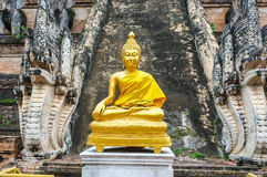 Golden Buddhist Sculpture Royalty Free Stock Image