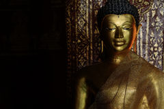 Golden Buddhist state in Chiangmai Thailand Royalty Free Stock Photography
