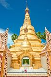 Golden buddhist temple Royalty Free Stock Images