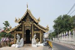 Golden Buddhist temple. Chiang Mai, Thailand. Golden Buddhist temple in the holy city of Buddhist temples, Chiang Mai. Thailand Royalty Free Stock Photo
