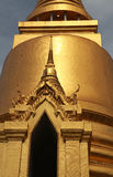 Golden Buddhist temple gable Stock Image