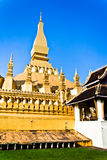 Golden Buddhist Temple in Vientiane, Laos Royalty Free Stock Photo