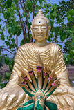 Golden buddhistic figurine Royalty Free Stock Photo
