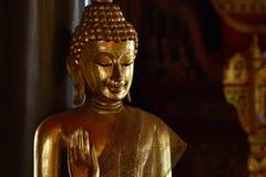 Golden of buddish state in the art style ,Wat Krathum Suea Pla t. Emple ,Bangkok Stock Image