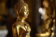 Golden of buddish state in the art style ,Wat Krathum Suea Pla t. Emple ,Bangkok Stock Photos