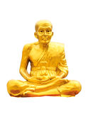 Golden budha meditation statue in white isolate with cliping pat Stock Images
