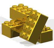 Golden Building Blocks Stock Image