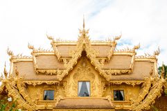 Golden building, Chiangrai, Thailand. Stock Photo