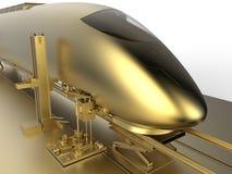 Golden bullet train Royalty Free Stock Photos