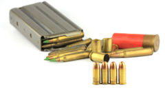 Golden bullets Royalty Free Stock Images