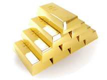 Golden bullion Stock Images