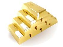 Golden bullion. In 3d graphics stock images