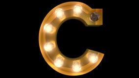 Golden Burlesque Light Bulb Text C