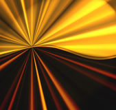 Golden Burst. Abstract vivid design background with a satin smooth burst of rays of color in gold and burgundy red tones Royalty Free Stock Photo