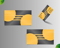 Golden business card layout Stock Photos