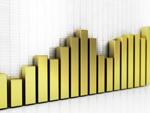 Golden business graph Royalty Free Stock Images