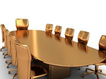 Golden business meeting Royalty Free Stock Images