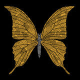 Golden butterfly Royalty Free Stock Photos