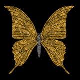 Golden butterfly stock illustration