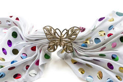 Golden butterfly barrette Royalty Free Stock Photography
