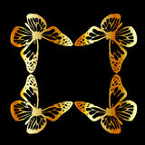 Golden butterfly design element Royalty Free Stock Photos