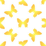 Golden butterfly seamless Royalty Free Stock Photography