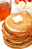 Golden buttermilk pancakes Royalty Free Stock Photography