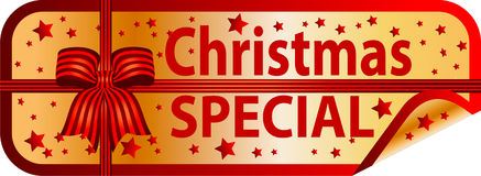 golden button christmas special royalty free illustration - Christmas Special