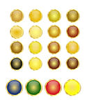 Golden buttons Stock Photo