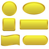 Golden Buttons Royalty Free Stock Photography