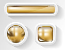 Golden buttons Royalty Free Stock Images